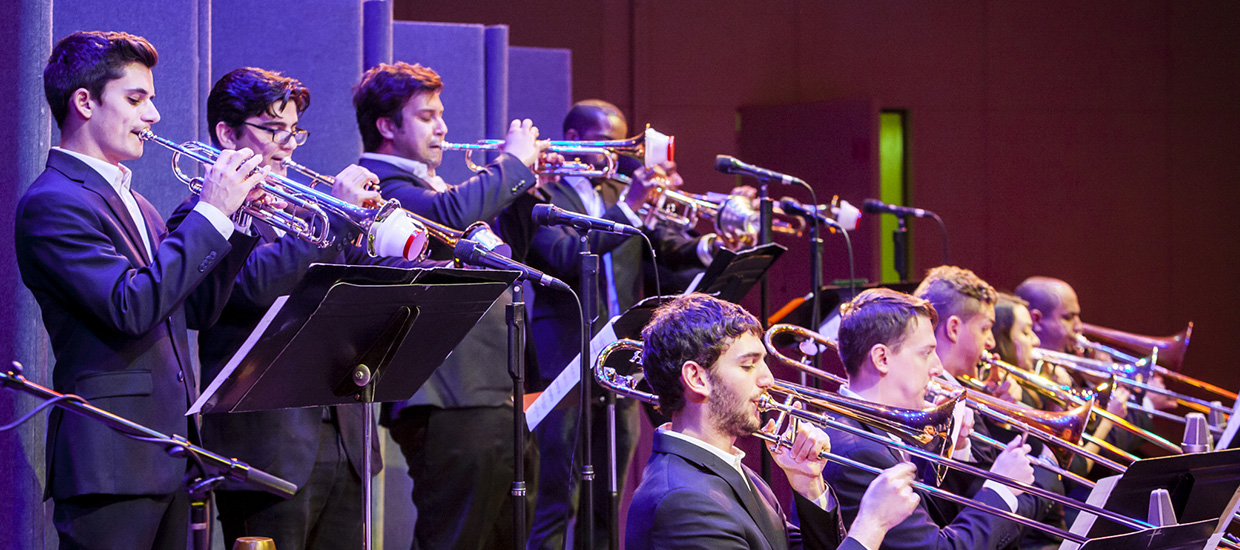 Horn Section of the FROST Jazz Band