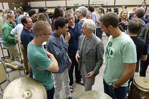 Members of the Rolling Stones visit the University of Miami