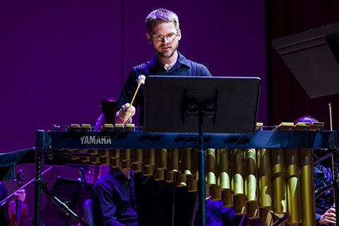Musician during a percussion solo